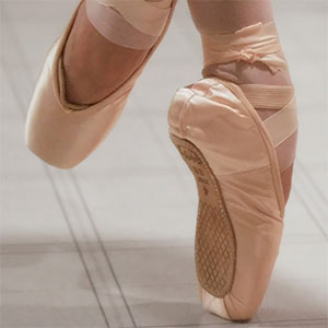 Worn out ballet shoes photography