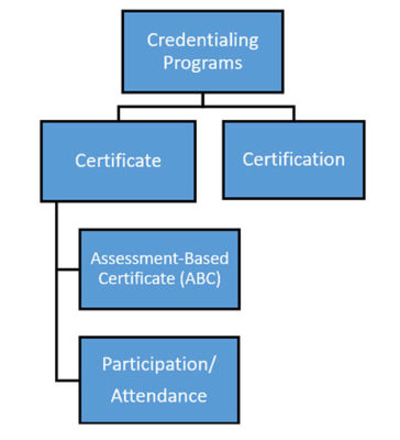 Two types of certificate programs and certification programs